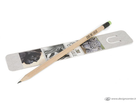 Segnalibro con matita in legno naturale - comunicazione sostenibile