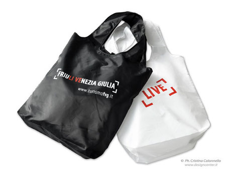 shopper tote - museo -  vernissage - corporate merchandising -  100% poliestere - Turismo FriuliVeneziaGiulia
