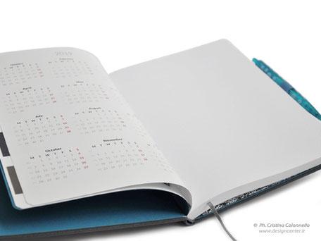 notebook - calendario interno  - fogli personalizzati