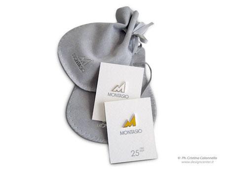 Montasio - Spilla da giacca custom argento smalti oro
