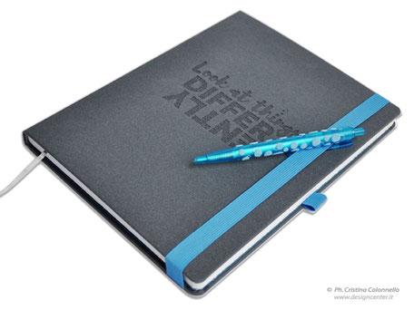 Notebook  personalizzato con chiusura elastico e penna