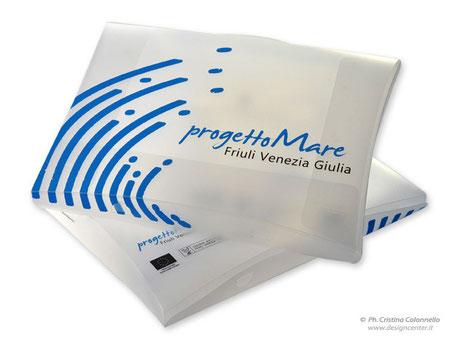 cartellina valigetta in ppl personalizzata progetto Mare FVG