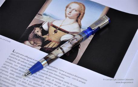 Penne con opera esclusiva -  oggetto ricordo - gadget museo