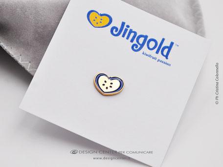 Pin argento dorato e logo azienda  personalizzata con smalto - bijoux preziosi