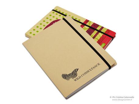 Blocco/Quaderno con copertina in cartoncino con patelle - tutto personalizzabile