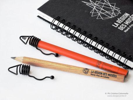 Set Blocco notes spiralato e matita fusto legno naturale o colorato