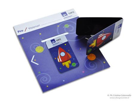 Segnapagina piccolo abbinato al cartoncino personalizzato AXA