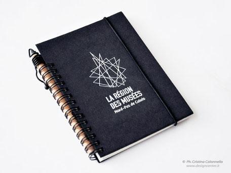 Blocco notes con elastico - matita  con clip - copertina con stampa custom