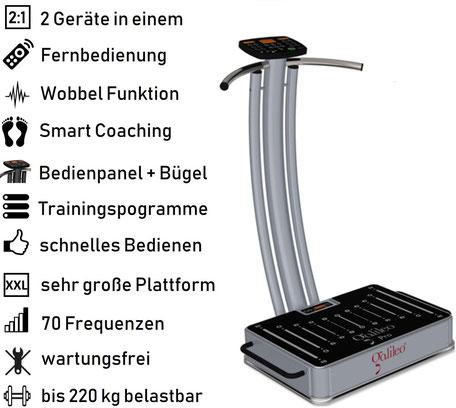 Vibrationsplatte Galileo Pro, Vibrationstrainer, Galileo Training, gebraucht, kaufen, Preise, Preis, Test, Vertrieb: www.kaiserpower.com