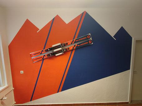 Wandhalter Ski Halterung Wandmontage Display Skihalter