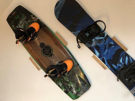 Wandhalterung Wandmontage Wakeboard Snowboard horizontal vertikal Halterung wall mount Liquid force