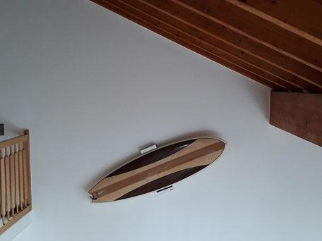 Wandhalterung Wandmontage Wellenreiter diagonal horizontal vertikal Halterung wall mount Surfboard