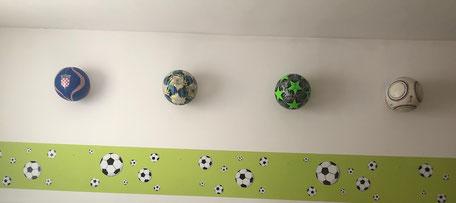 Wandhalter Fußball Basketball Handball
