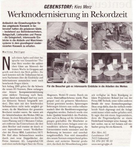 PR Text Text Zeitungsartikel Bericht Modernisierung