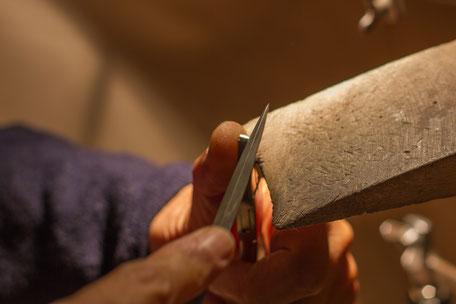 Bild: Manschettenknöpfe hergestellt in Handarbeit