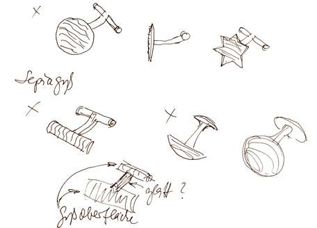 Bild: Individuelle Manschettenknöpfe Skizze