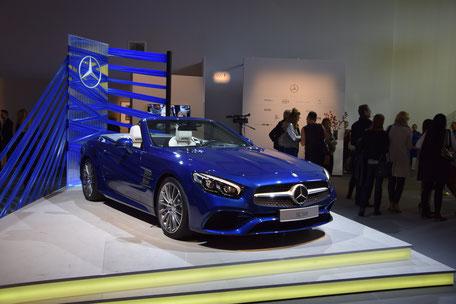 Bild: Mercedes SL 500 auf der Fashion Week Berlin