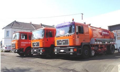 Camions de vidange et entretien de fosses septiques à Namur