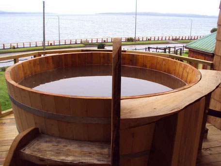 Package Hot Tub Tina Caliente Mundo Nuevo Hostal Chiloe