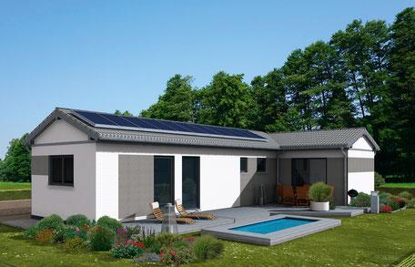B/CUBE T mit Satteldach und Photovoltaikanlage