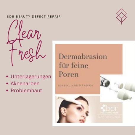 bdr-Dermabrasion zur Hautverfeinerung und großen Poren