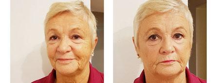 Makeup für eine zeitlose Schönheit  Vorher/nachher Fotos