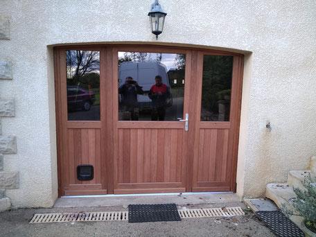 Porte d'entrée porte de service porte de garage sur mesure bois aluminium pvc en Corrèze