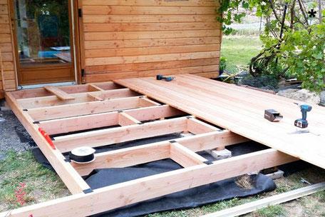 terrasse bois garde corps mobilier extérieur sur-mesure corrèze