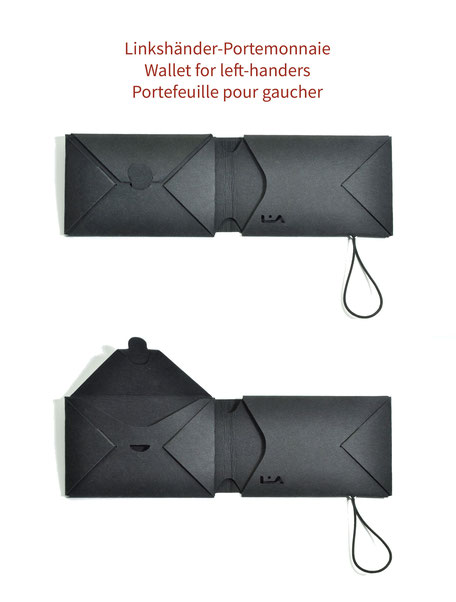 Linkshänder Portemonnaie | left-handed purse, wallet | portefeuille pour gaucher