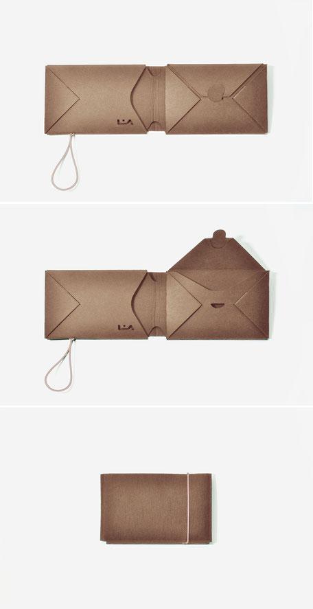 liaform | braunes Origami Portemonnaie - brown origami purse