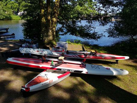 ROWonAIR rudern | Ruderboote AIRSKIFF, iSUP und AIRKAJAK nach dem Testrudern auf der Hamburger Alster