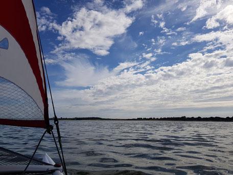 XCAT-Segeln auf der Nordsee im Wattenmeer vor Sylt bei Munkmarsch