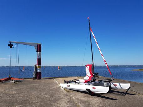 XCAT-Segelkatamaran | am Dümmer See ohne Bootskran ins Wasser