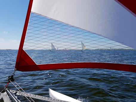 XCAT-Segelkatamaran | Guter Durchblick durchs Segel & Vorsegel