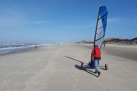 Link zum Strandsegeln - Strandbild
