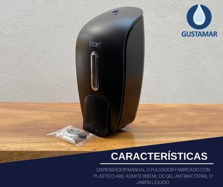 DISPENSADOR DE GEL ANTIBACTERIAL MANUAL ECONÓMICO NEGRO