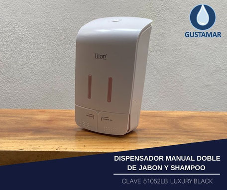DISPENSADOR DOBLE MANUAL DE GEL ANTIBACTERIAL O JABÓN