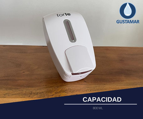 DISPENSADOR DE GEL Y JABÓN LÍQUIDO FORTE F320-GB