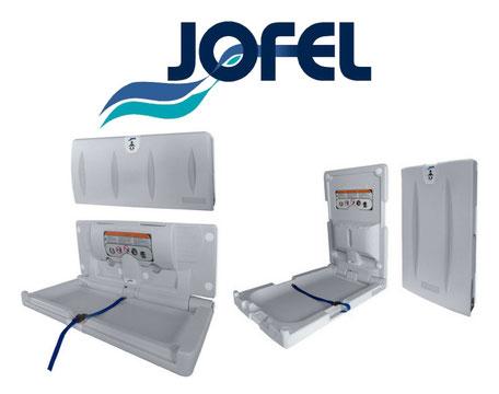 Cambiadores de pañal para bebés Jofel. Empotrables, Plegables, para Baños Públicos. Horizontales y Verticales