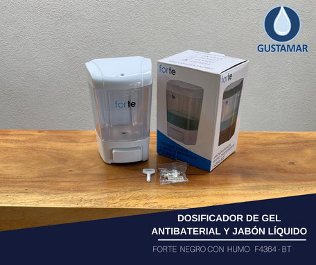 DISPENSADOR DE GEL ANTIBACTERIAL MANUAL RELENABLE FORTE F4364-BT