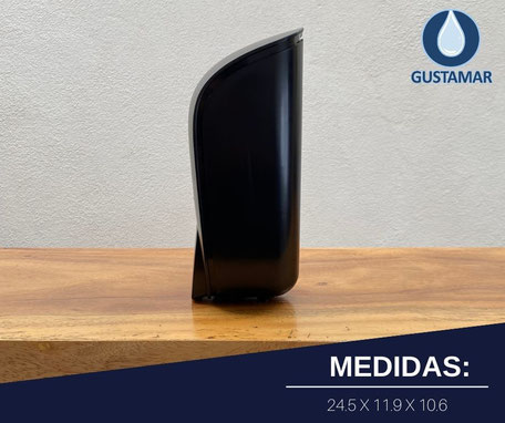 DISPENSADOR DE GEL ANTIBACTERIAL MANUAL TITÁN NEGRO