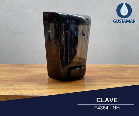 DOSIFICADOR DE GEL ANTIBACTERIAL Y JABÓN FORTE F4364-NH