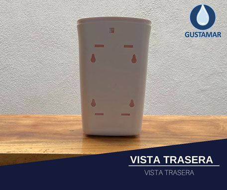 VISTA TRASERA DEL DISPENSADOR DOBLE MANUAL TITÁN