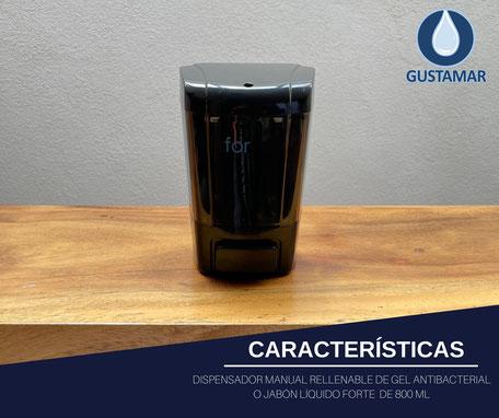 DISPENSADOR DE GEL ANTIBACTERIAL Y JABÓN LÍQUIDO DE BOTÓN F4364-NH