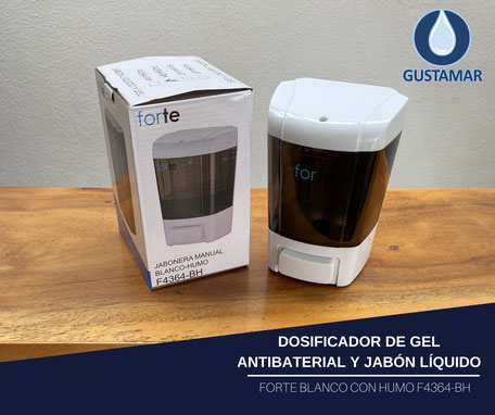 DISPENSADOR DE GEL ANTIBACTERIAL MANUAL RELENABLE FORTE F320-GB