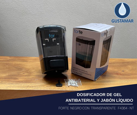 DISPENSADOR DE GEL ANTIBACTERIAL MANUAL RELENABLE FORTE F4364-NT
