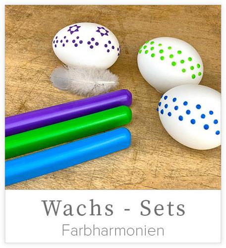 Set mit Wachs für Ostereier, Wachsset mit 3 Farben