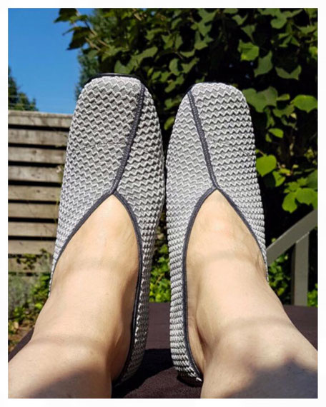 San Miguel Shoes Deutschland mit dem Mokassin Oregon in grey panal