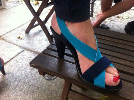 San Miguel Shoes Deutschland mit der Sandale Star in blue