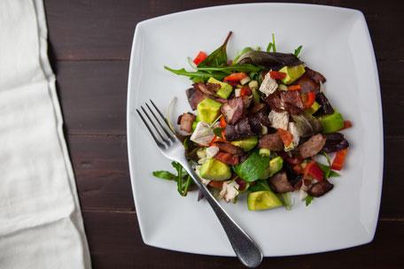 Abendesse-Teller-Gemüse